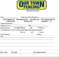 Manual Order Sheet